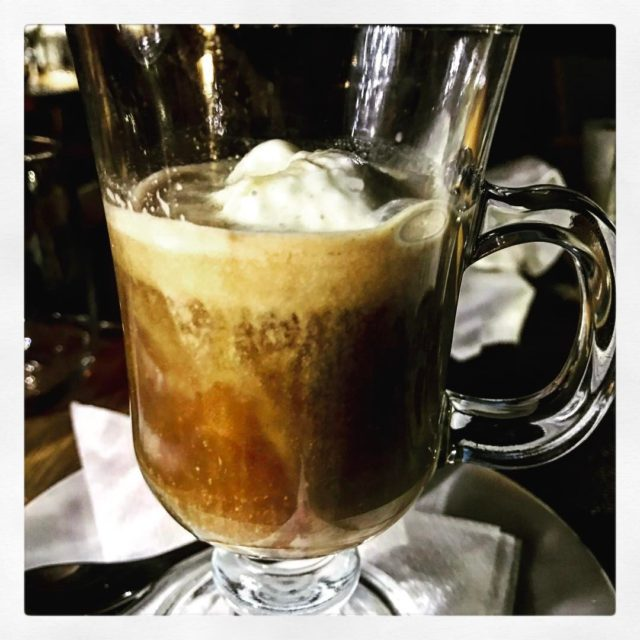 Irishcoffee affogato icecream moandrose robertson roadtrip dinner llewellynwho whaletalesblog lovemylife