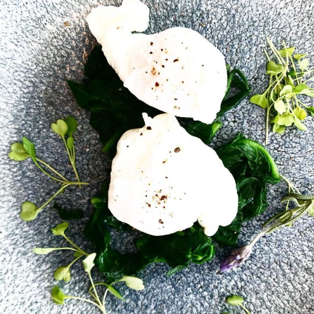 poachedegg spinach at laparisestate franschhoek wedding event vrnue bistro restauranthellip