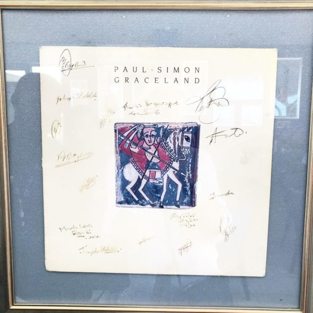 original signed Graceland record cover by paulsimonofficial at hardrockcafe campsbayhellip