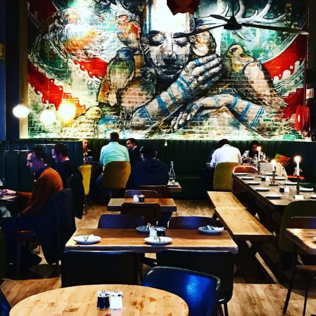 wallmural at sirestaurant in Silo district vandawaterfront capetown new whaletalesbloghellip