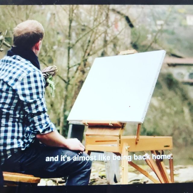 chef janhendrik the artist painting in Apricale episode4 tvseries JANhellip