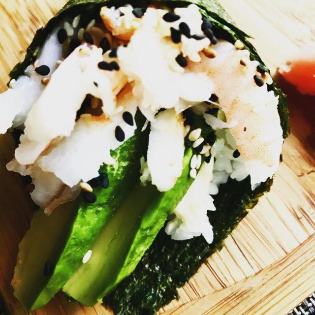 handroll with prawns avocado sesame seaweed at benweisushi wembleysquare capetownhellip