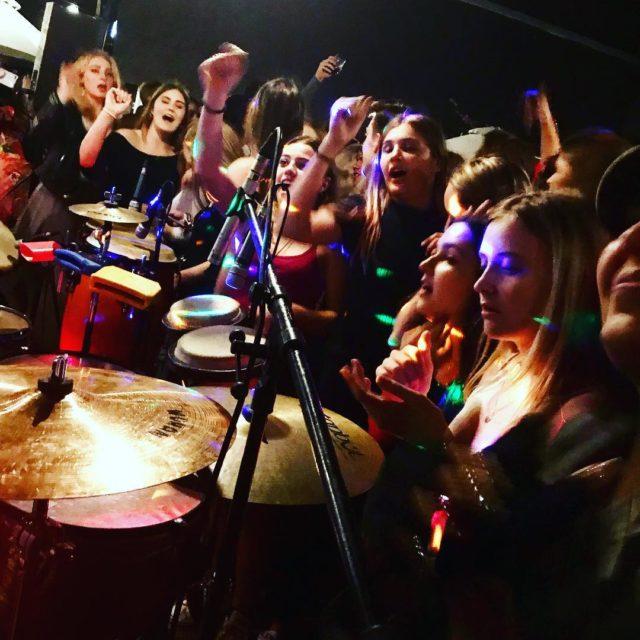 dancers surrounding DJ djrenethefrenchman at laparadaza constantianek capetown music dancinghellip
