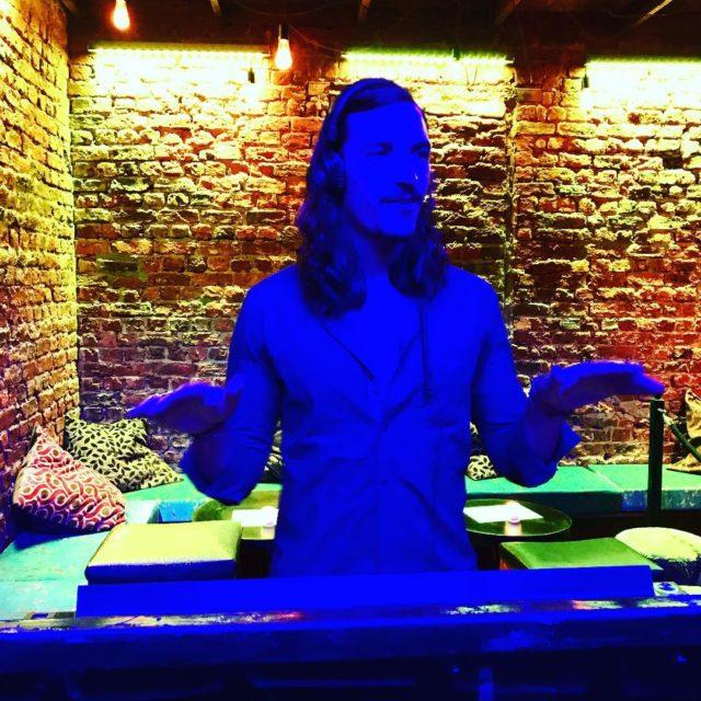 DJ Nathan at the new TAU nightclub bars dancing electronichellip