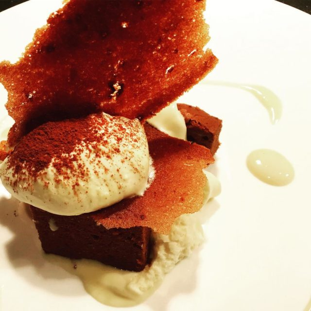 deconstructed tiramisu with mascarpone cheese espresso cake coffeemeringue shard athellip