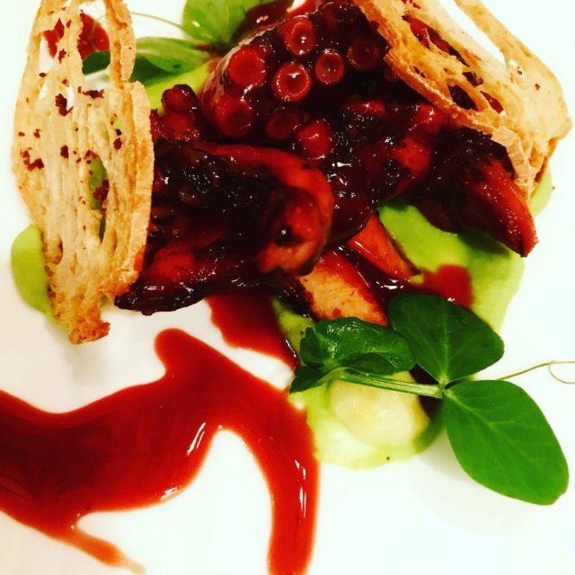grilled octopus peas Salt lemon olive crostini pierinopenati villa47onbree lucianopreviterahellip