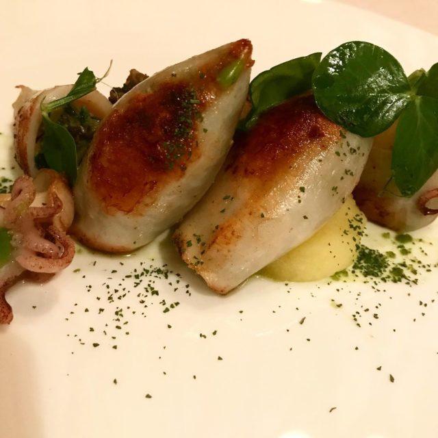 Stuffed calamari mushroom spinach green sauce pierinopenati villa47onbree breestreet capetownhellip