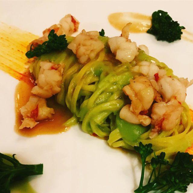 Tagliolini prawns broccoli spicy sauce at pierinopenati villa47onbree breestreet capetownhellip