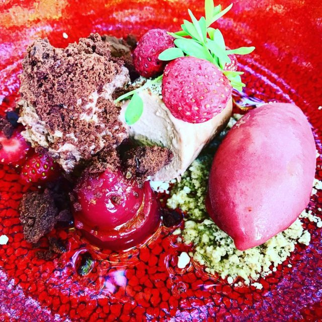 valrhonafrance 70 parfait aero strawberries times four by chef guyedgarbennetthellip