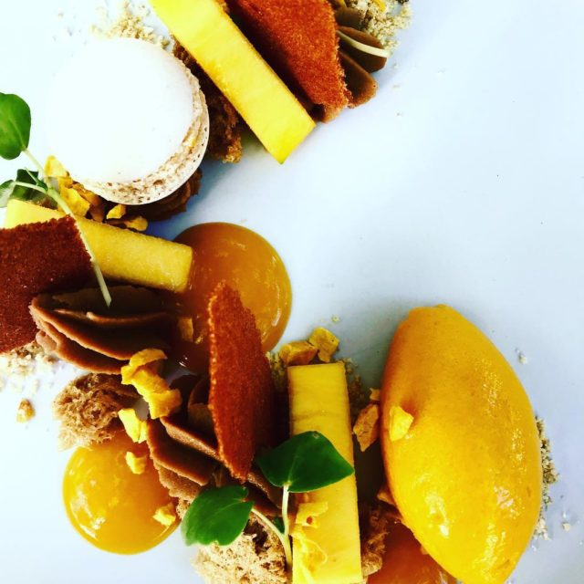 beautiful mango hazelnut sponge lemon crumble cocoabean namelaka at grandeprovencehellip