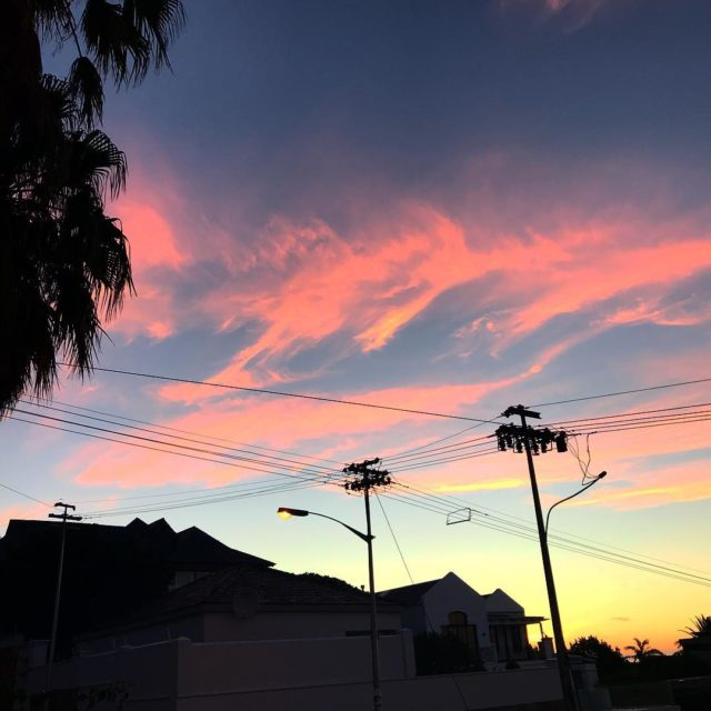 pink sunset fresnaye capetown lovemylife