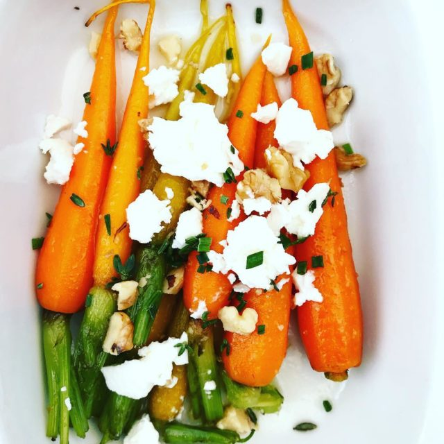 carrots on the diff walnuts feta at seabreezefishandshell breestreet capetownhellip