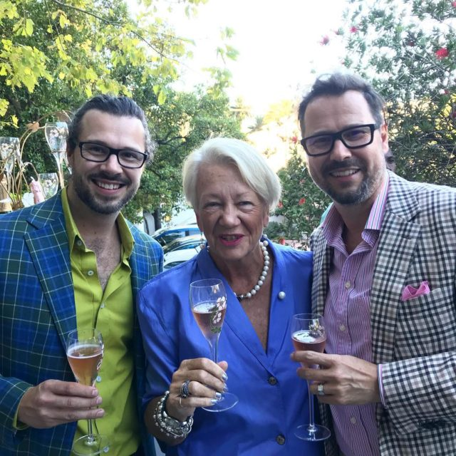 Sarie with designer hendrikvermeulencouture and jdmeyer at thestackcpt capetown with perrierjouethellip altavistaventures Images