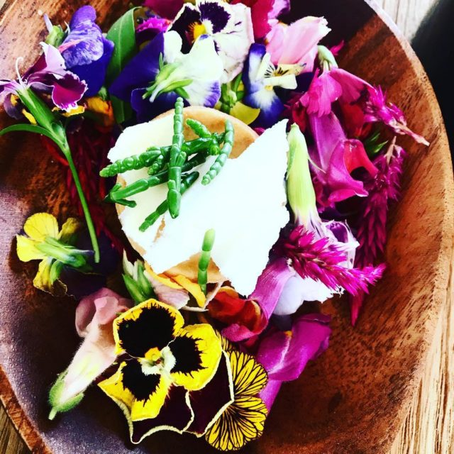 lemonpie yoghurt meringue spingflowers samphire seaasparagus dessert likoke popup restauranthellip