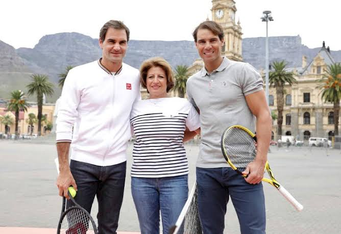 Match In Africa Roger Federer Foundation Charity Tennis Match A